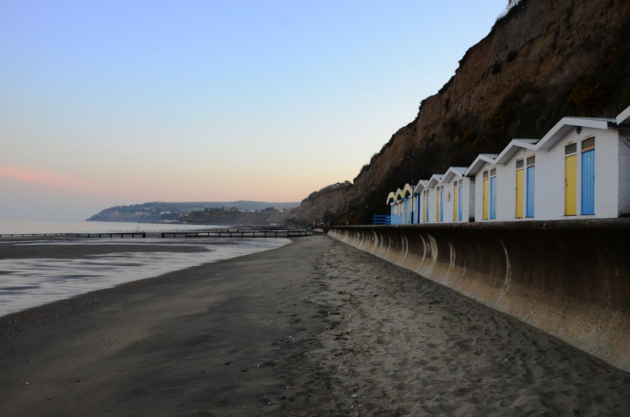 Beach Huts on Shanklin Bay