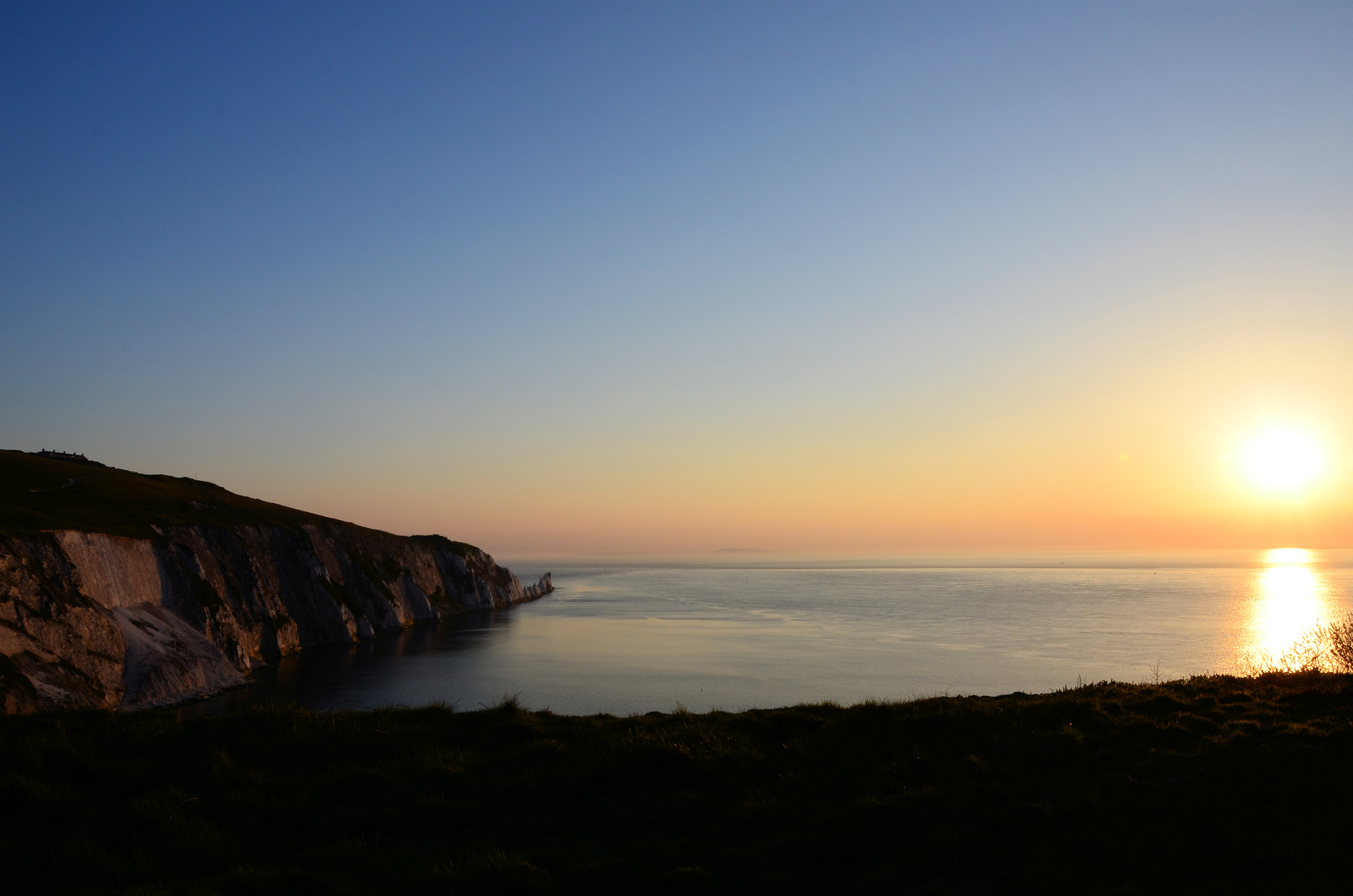 The Sun Setting over Needles Bay